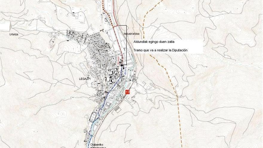 Diputación de Gipuzkoa construirá un nuevo tramo de vía ciclista entre Urretxu y Legazpi