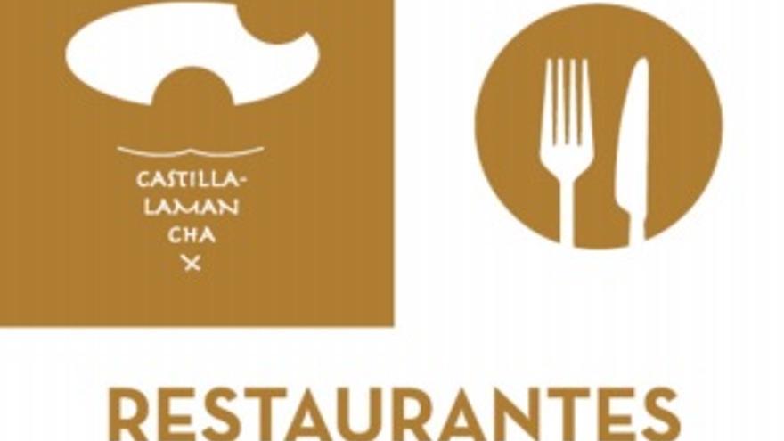 Placa identificativa de los restaurantes en Castilla-La Mancha
