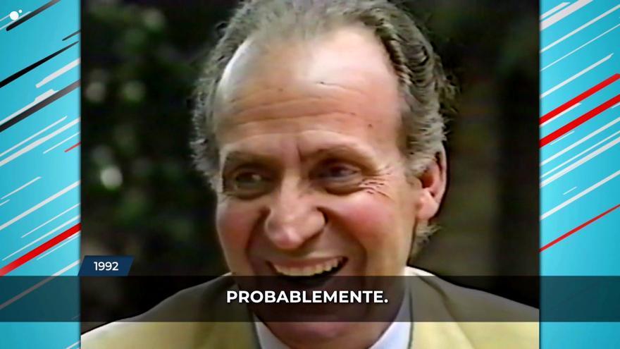 Juan Carlos I en la entrevista