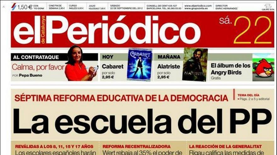 De las portadas del día (22/09/2012) #9