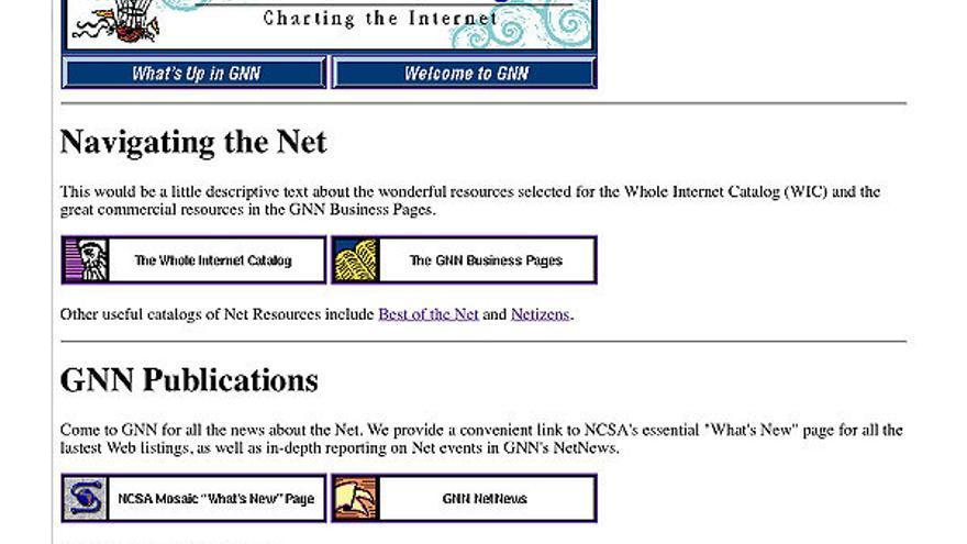 Global Network Navigator, la primera web comercial de la historia