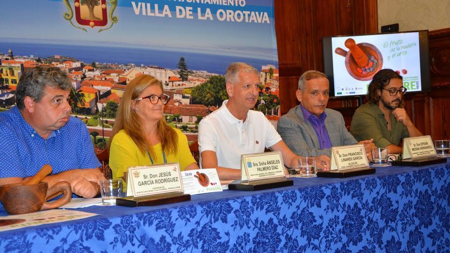 Acto de presentación de este martes, en La Orotava