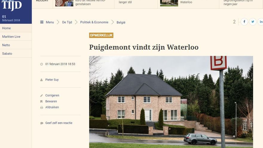Captura del diario De Tijd
