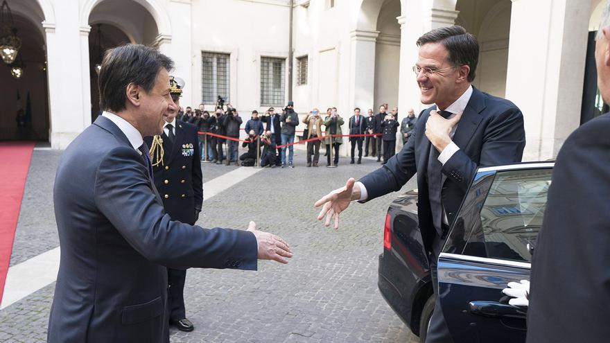 Giuseppe Conte y Mark Rutte