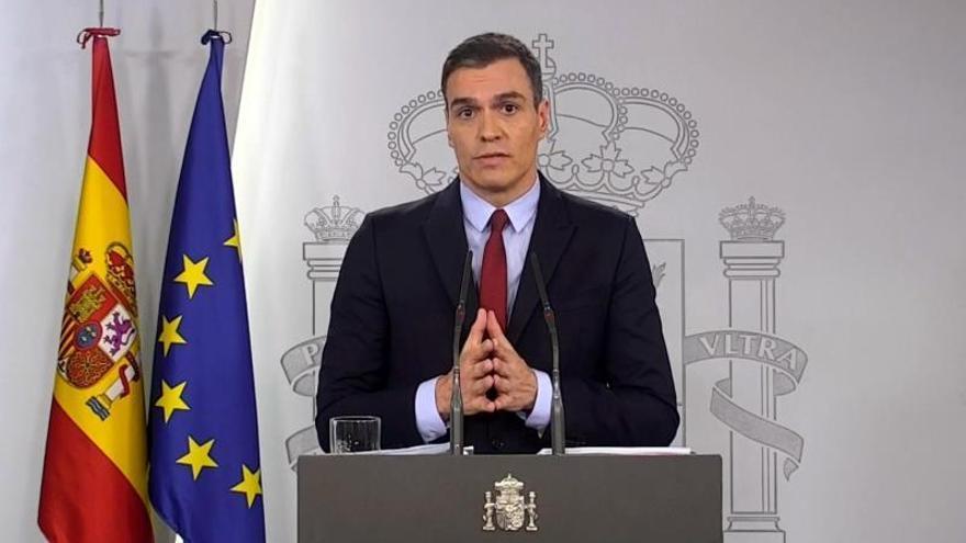 Pedro Sánchez explica las medidas del estado de alarma.