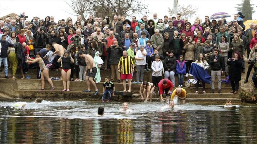 Nuevo Baño En Ciudad Real: desafiando el frío con un baño en el río Bullaque (Ciudad Real
