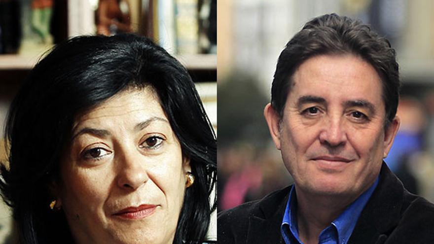 Almudena Grandes y Luis García Montero, en un montaje fotográfico