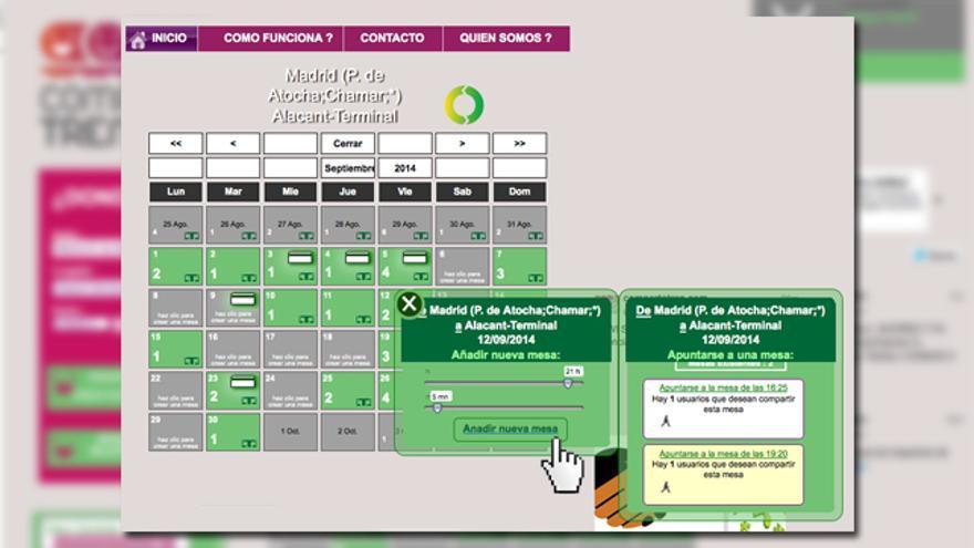 Captura de pantalla de Compartetren.com (Paso 2)