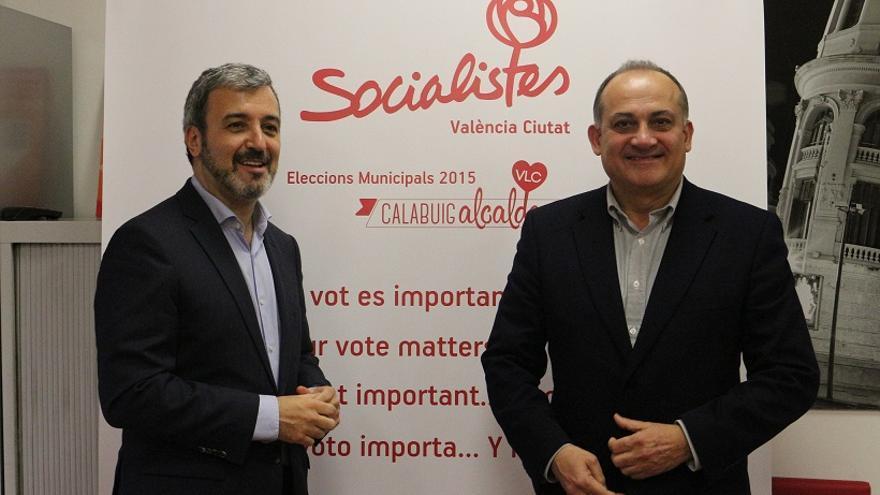 Jaume Collboni i Joan Calabuig en Valencia