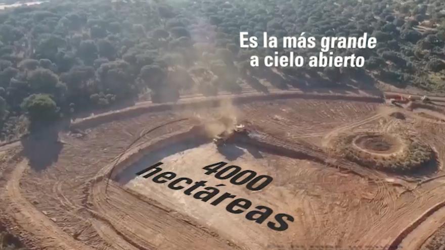 Imagen aérea de la mina de uranio en Salamanca