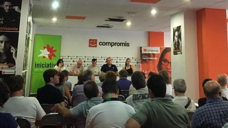 Imagen de la reunión de Iniciativa de este sábado