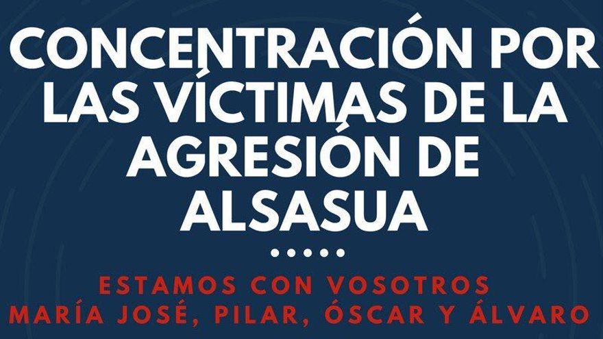 Cartel de la convocatoria de la concentración por los dos guardias civiles y sus parejas agredidos en Alsasua.