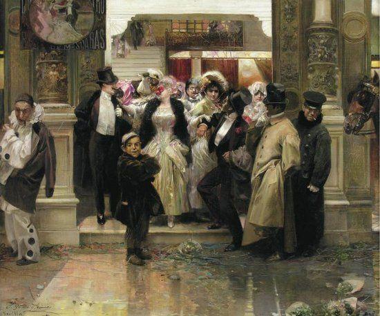 Salida de un baile de mascaras de José García Ramos | WIKIMEDIA.ORG