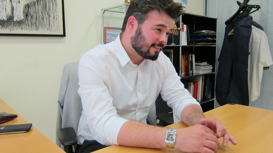 Rufián plantea actos de campaña conjuntos ERC-CDC con Puigdemont y Junqueras