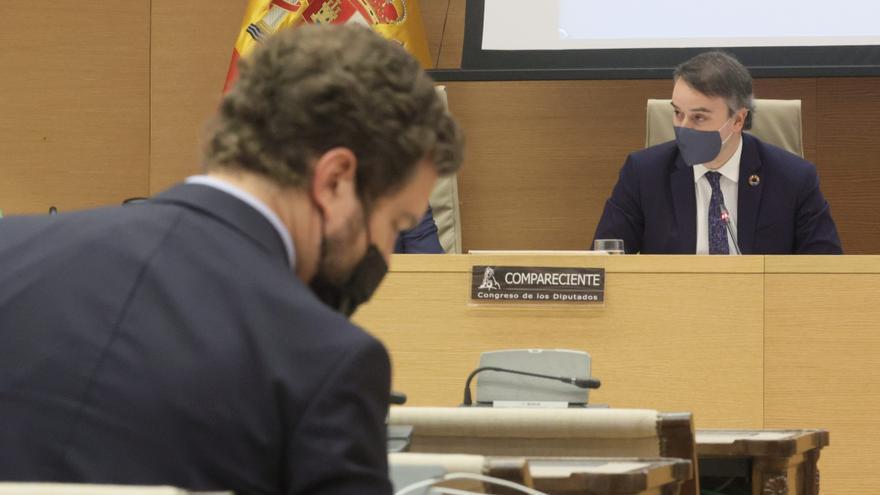 El director del Gabinete del Presidente del Gobierno, Iván Redondo, durante la comparecencia en la Comisión Mixta de Seguridad Nacional en el Congreso de los Diputados.