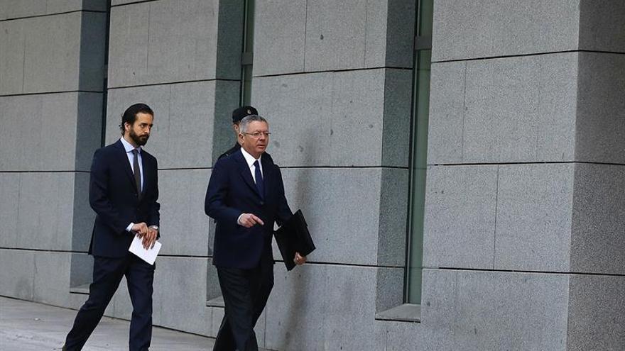 El expresidente madrileño Alberto Ruiz-Gallardón a su llegada esta mañana a la Audiencia Nacional para declarar como investigado ante el juez del caso Lezo.