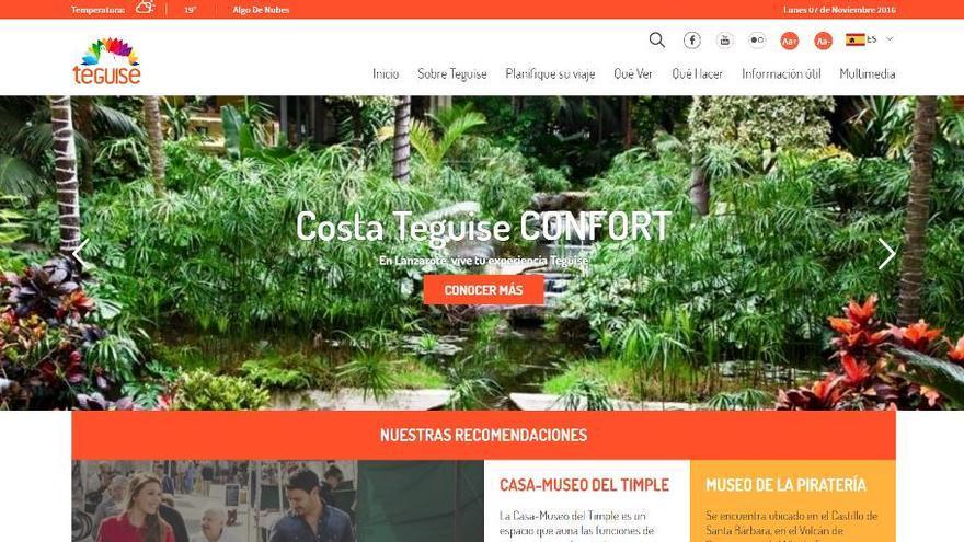 Aspecto de la renovada web turística.