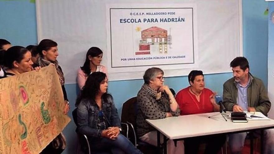 Rueda de prensa de Nieves en Malpica (A Coruña)