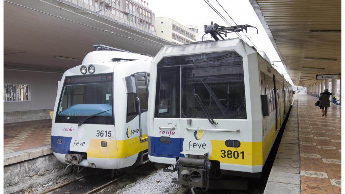 Trenes en Santander.