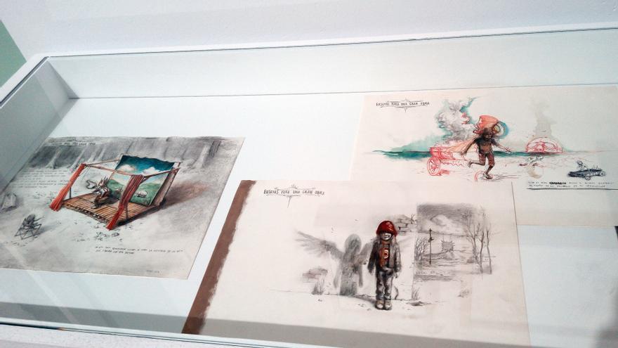 Dibujos expuestos en 'Ensayos para una gran obra'.