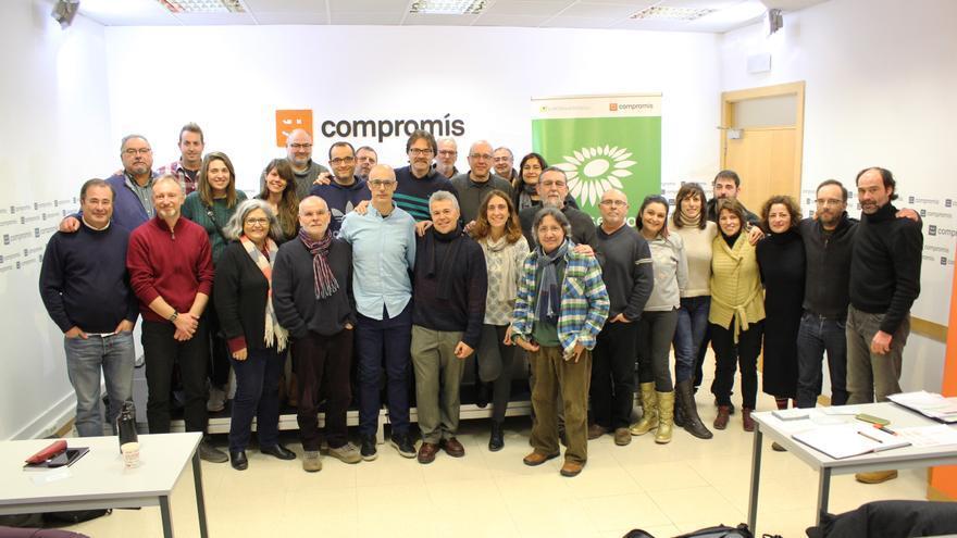 La Mesa de País de Verds Equo del País Valencia, en la sede de Compromís.