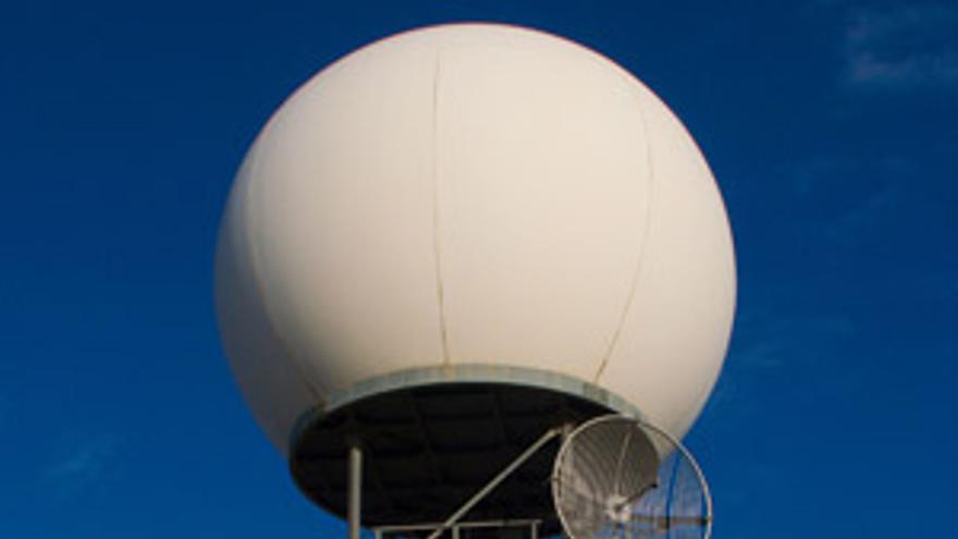 Imagen de archivo de un radar meterológico de la Aemet. Foto: Aemet.
