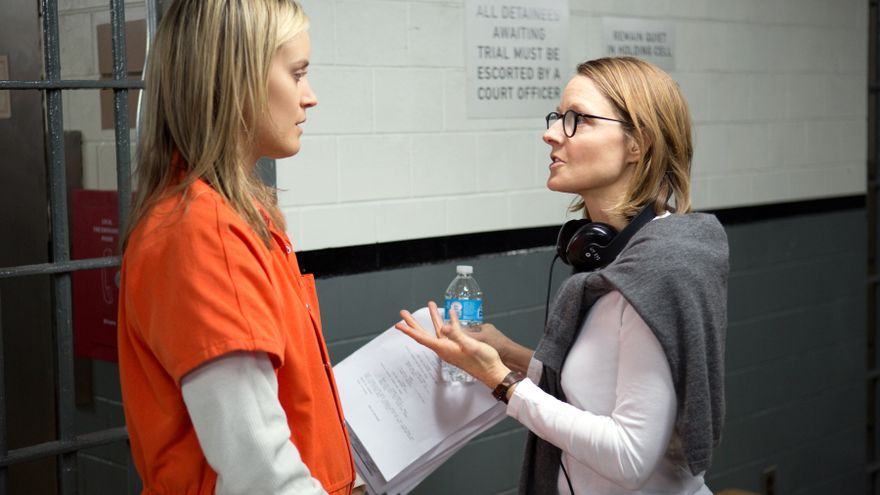 Jodie Foster en el rodaje de 'Orange is the new black'