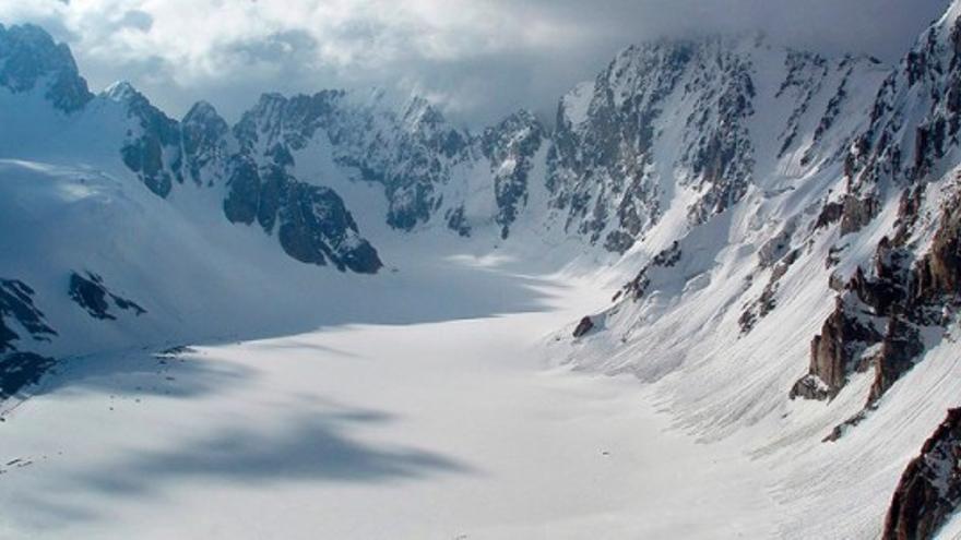 Glaciar Ak-Sai, Kirguistán.