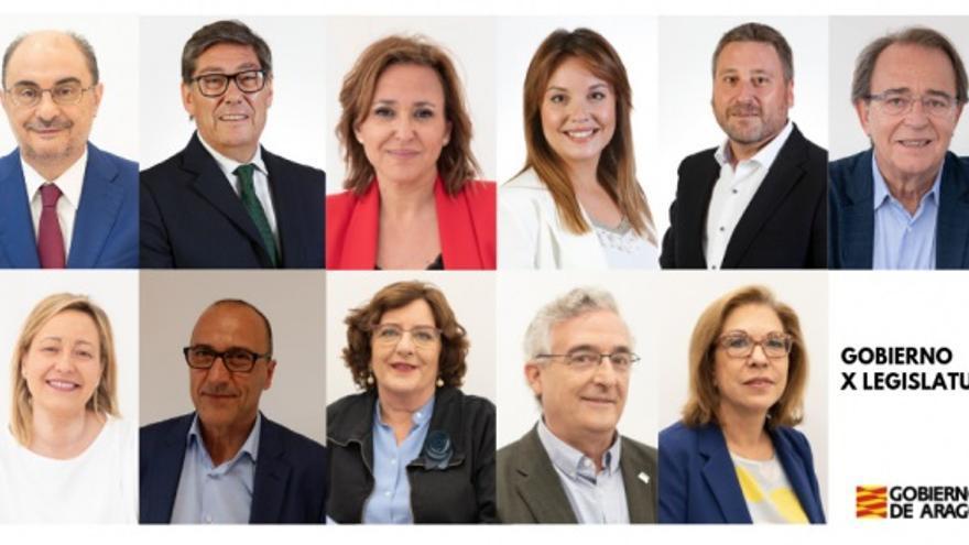 Los consejeros y consejeras que forman el nuevo Gobierno de Aragón