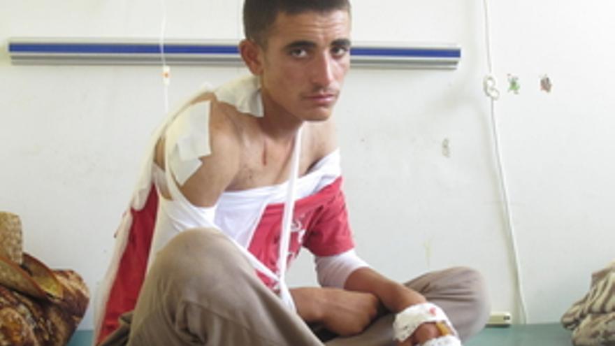 Khider, un estudiante de 17 años, se encontraba entre los que fueron llevados a las afueras de la aldea para ser fusilados © Amnistía Internacional