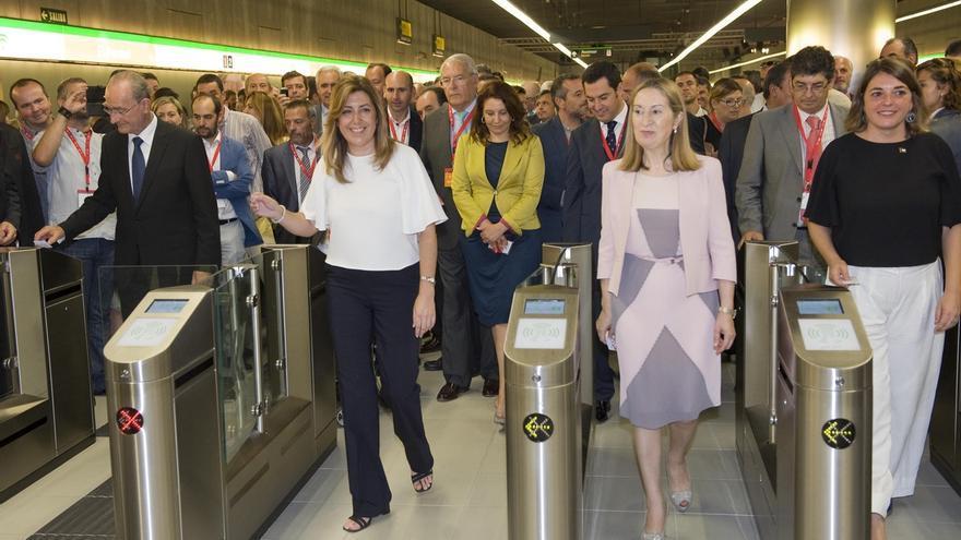 """El metro comienza su andadura en """"un día histórico para Málaga y Andalucía"""""""