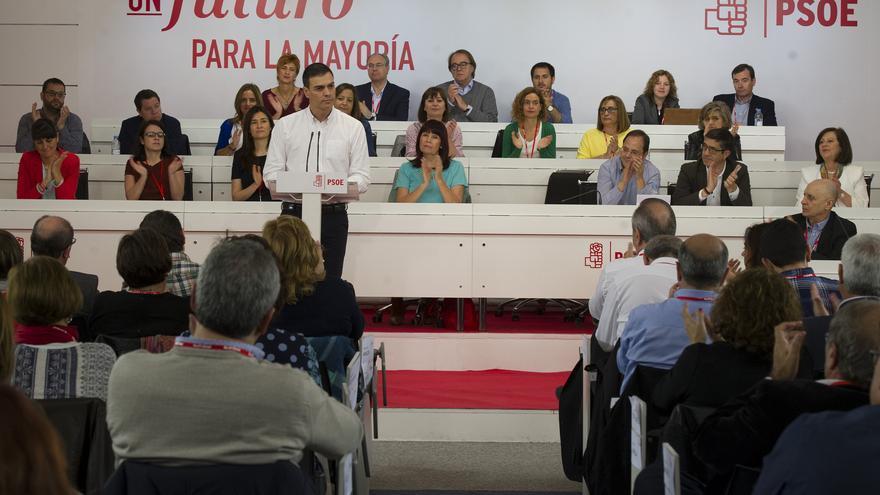Pedro Sánchez durante su discurso ante el Comité Federal del PSOE / Foto: PSOE