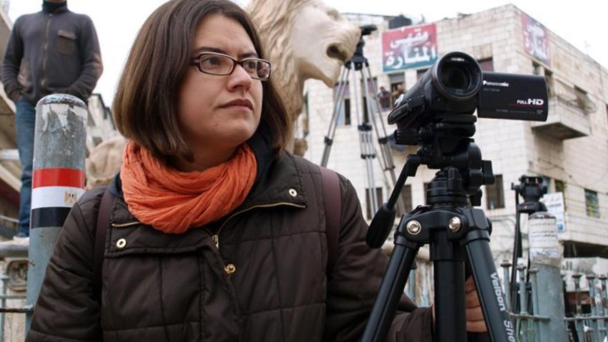 Carmen Rengel trabajando en Palestina