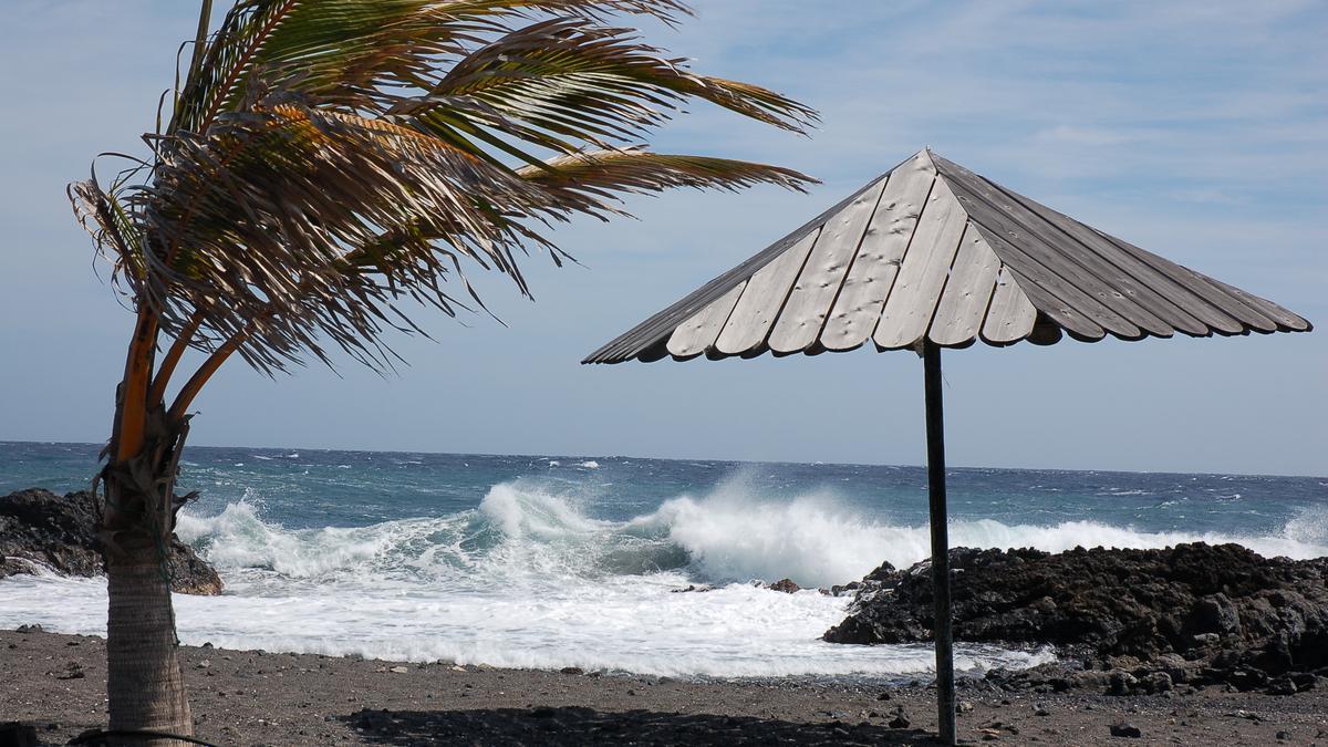 Viento en la costa de La Palma.