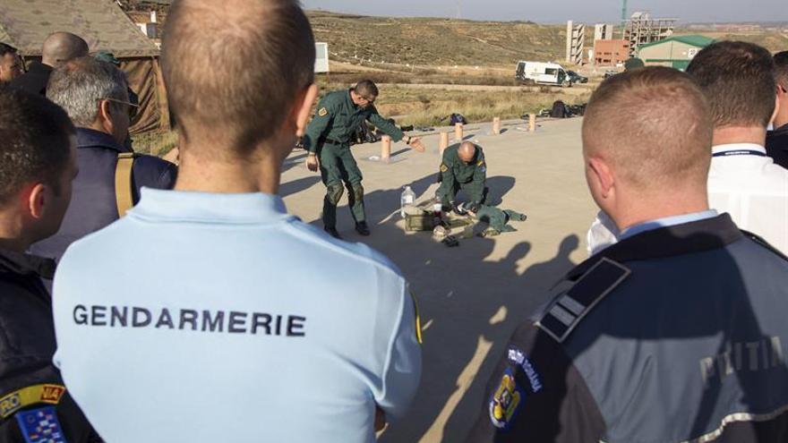 Misión Lucron, policías de 24 países se forman en la gestión civil de crisis