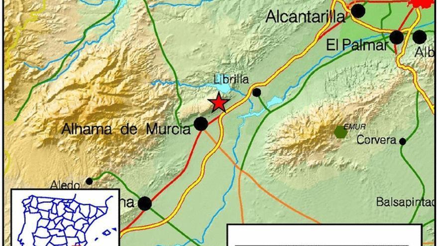 Un terremoto de 2.4 se deja sentir en Alhama de Murcia