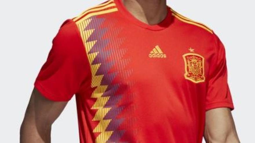 Nuevo diseño de la camiseta de la selección española