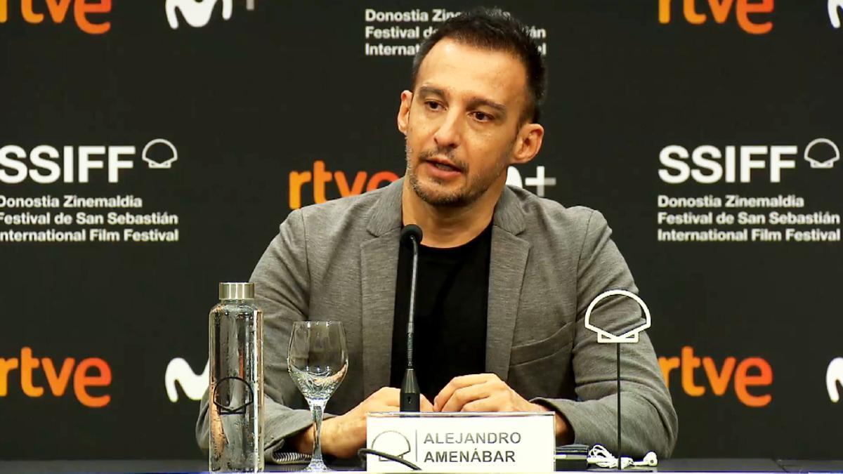 Alejandro Amenábar, en el Festival de San Sebastián