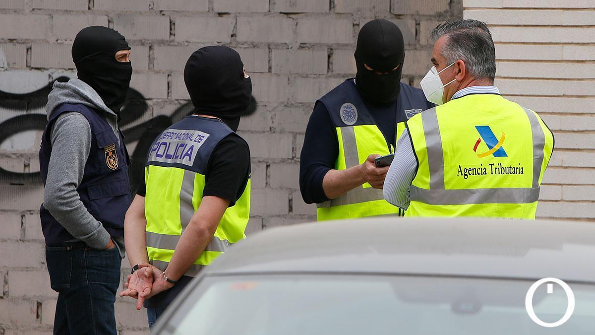Redada en Fuente de la Salud relativa a la operación que ha acabado con 22 detenidos