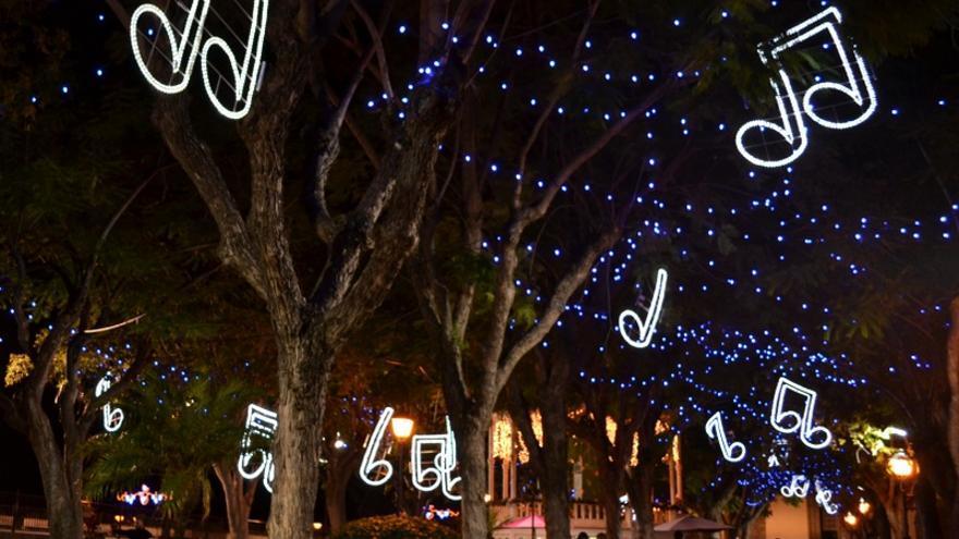 Plaza de la Constitución de La Orotava en las últimas fiestas navideñas