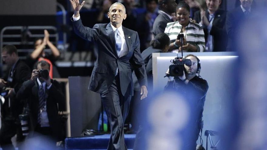 Obama cierra un ciclo con discurso patriota de apelación a todos los votantes