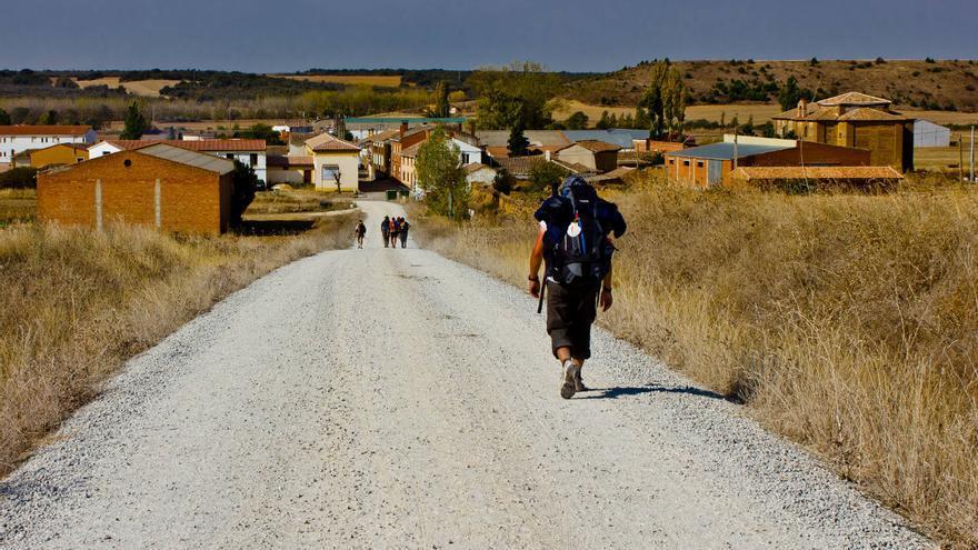 El Camino de Santiago en las inmediaciones de Calzadilla de la Cueza. VA