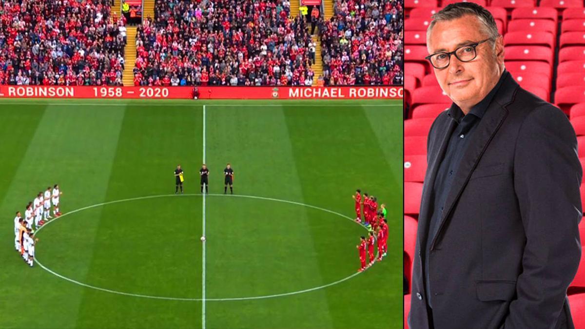 El homenaje a Michael Robinson en Anfield