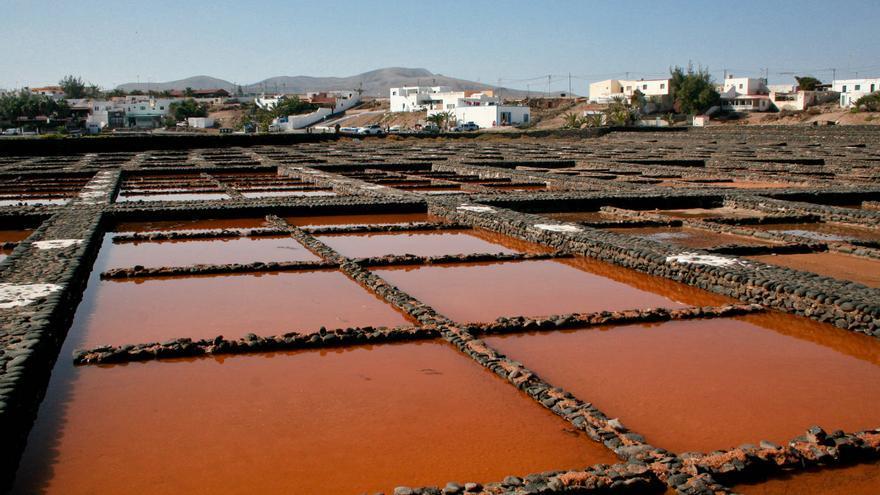 'Tajos' de las Salinas del Carmen, en la costa de Fuerteventura.
