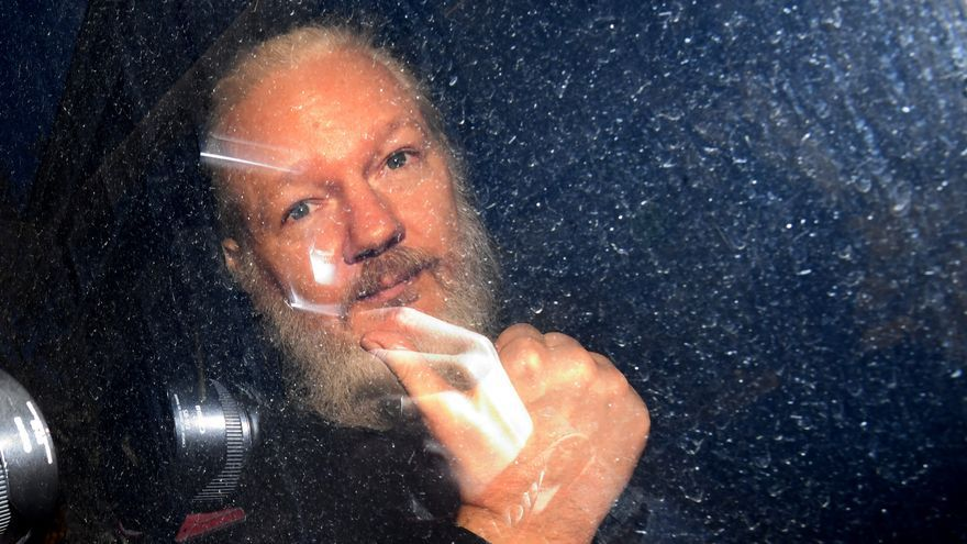 Julian Assange a su llegada al Tribunal de Magistrados de Westminster.