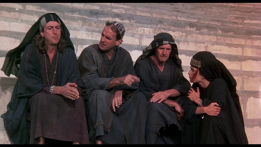 """""""¿Sois del Frente Judaico Popular?"""""""