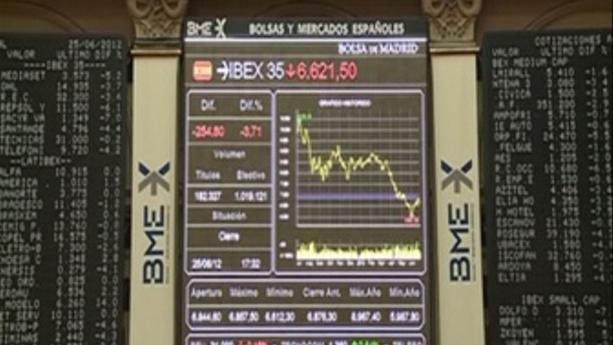 El Ibex sufre el castigo de Moody's a la banca