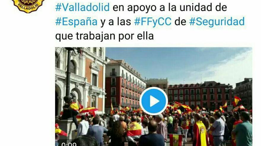 Tuit de la polícia de Valladolid