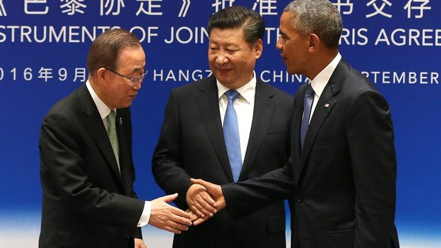 Ban Ki-moon, optimista sobre que el pacto del clima entre en vigor este año