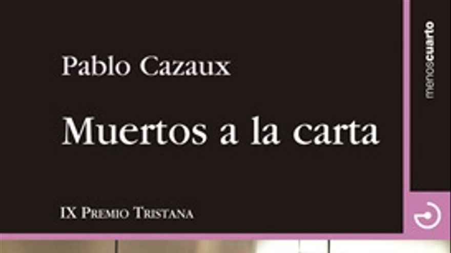Portada de la novela 'Muertos a la carta'. Editorial Menoscuarto
